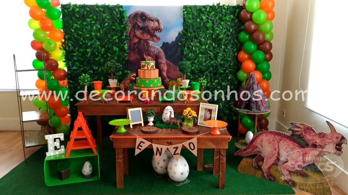 Decoraç u00e3o Dinossauros u2013 Decorando Sonhos -> Decoração De Mesa Festa Dinossauro